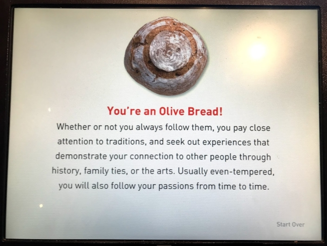 what kind of bread are you quiz
