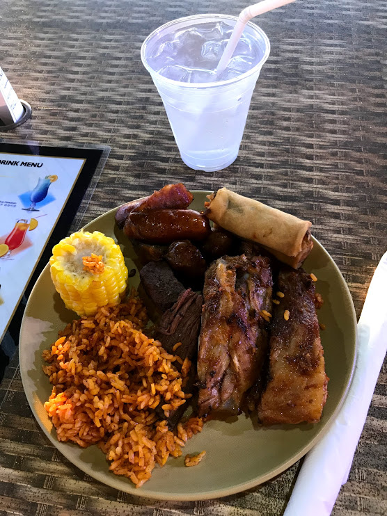 Chamorro BBQ Dinner Show Meal